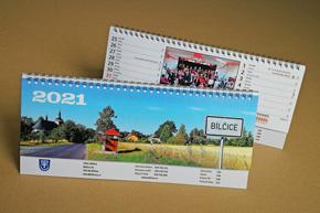 Stolní dvoutýdenní kalendář, Bílčice