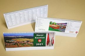 Stolní dvoutýdenní kalendář, Horní kounice