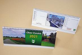 Stolní dvoutýdenní kalendář, Obec Vysoká