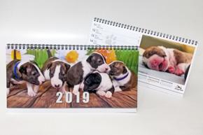 Stolní týdenní kalendář, pracovní, psí svátky