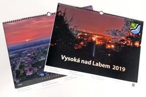 Nástěnný měsíční kalendář, Vysoká nad Labem