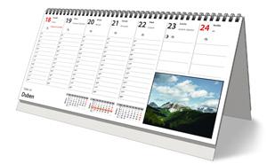 Plánovací stolní týdenní kalendář pro rok 2022 - strana kalendáře