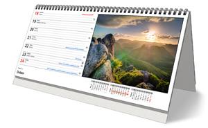 Pracovní stolní týdenní kalendář pro rok 2022 - strana kalendáře