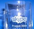 upomínková sklenice konference Skype - Prague 2009